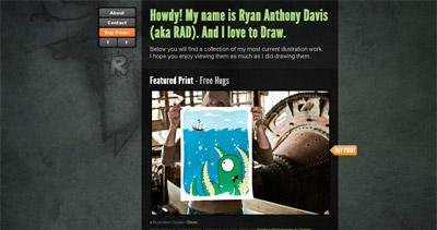 Ryan Anthony Davis Website Screenshot