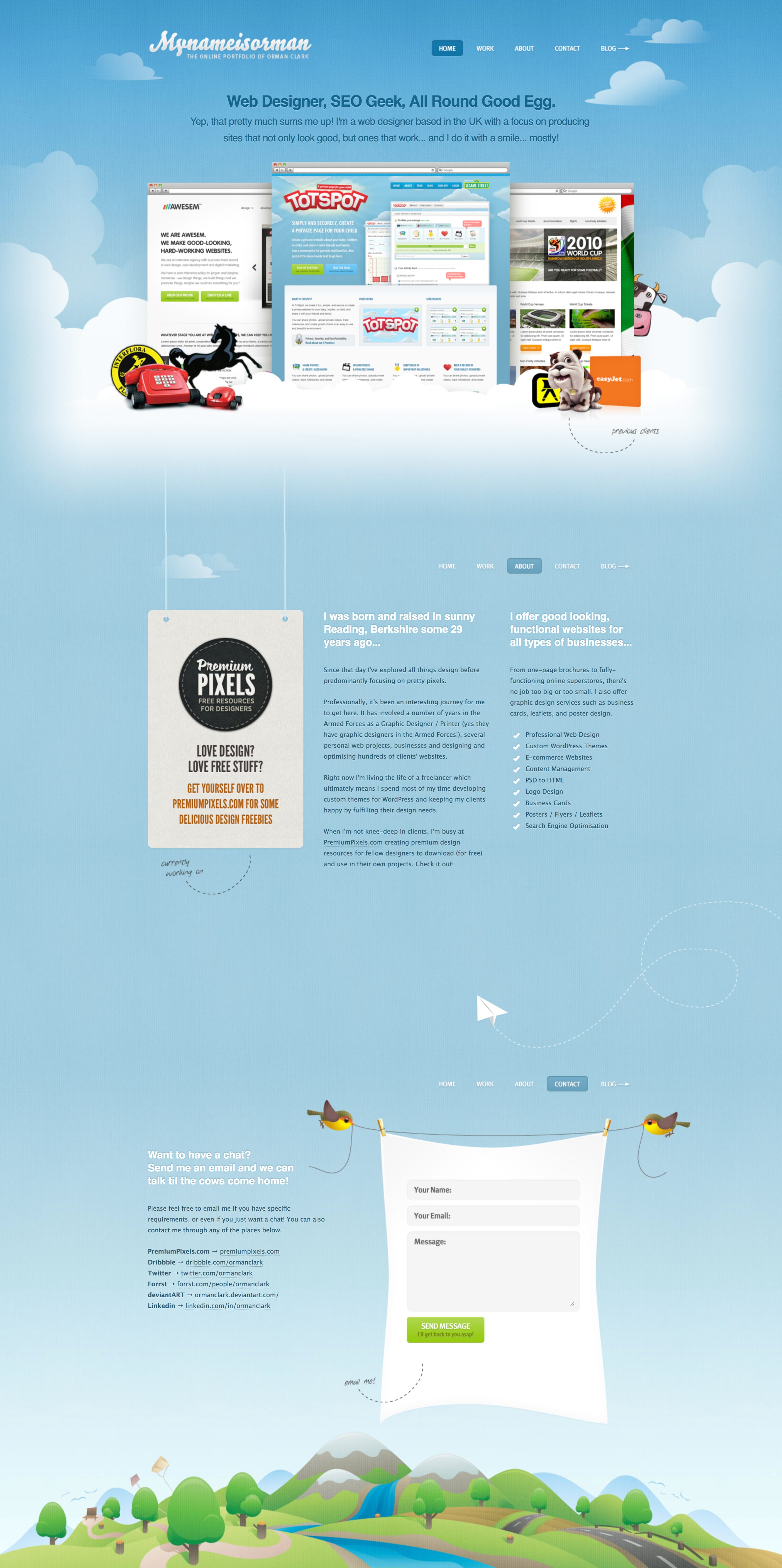 Orman Clark Website Screenshot