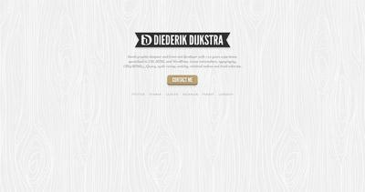 Diederik Dijkstra Website Screenshot