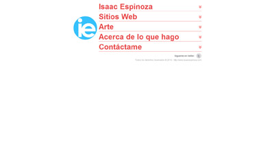 Isaac Espinoza Website Screenshot