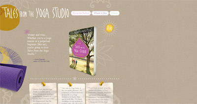 Tales from the Yoga Studio Website Screenshot