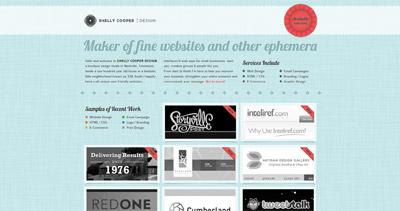 Shelly Cooper Design Website Screenshot