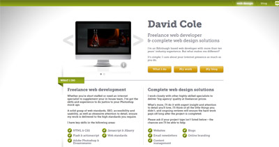David Cole Website Screenshot