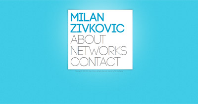 Milan Živković Website Screenshot