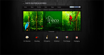 Davis Materialworks Website Screenshot