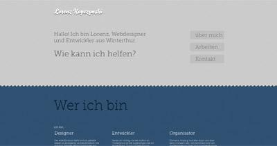 Lorenz Kopczynski Website Screenshot