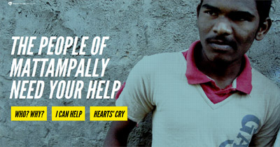 Hearts' Cry Inc Website Screenshot
