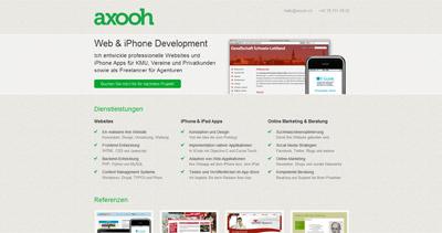 axooh Website Screenshot