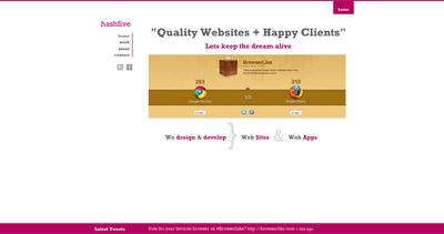 HashFive Website Screenshot