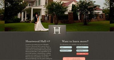 Heartwood Hall Website Screenshot