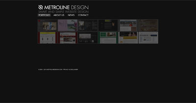 Metroline Design Website Screenshot