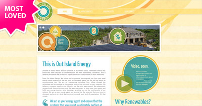 Out Island Energy Website Screenshot