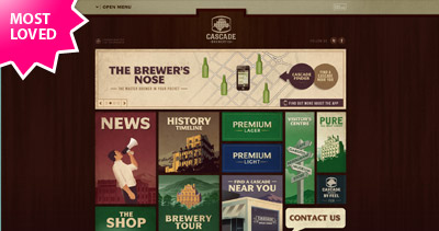 Cascade Brewery Co Website Screenshot