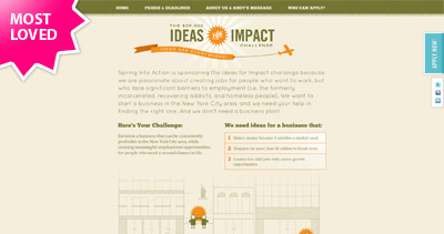Ideas for Impact Challenge Website Screenshot