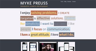 Myke Preuss Website Screenshot