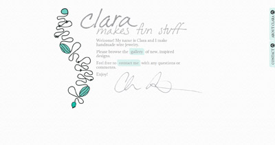 Clara Makes Fun Stuff Website Screenshot