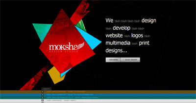Moksha Design Studio Website Screenshot
