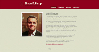 Simon Kollerup Website Screenshot