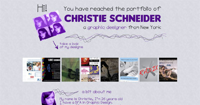 Christie Schneider Website Screenshot