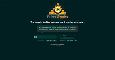 PokerGlyphs Website Screenshot