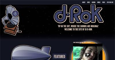 DJ D-Rok Website Screenshot