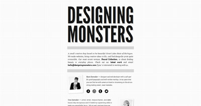 Designing Monsters Website Screenshot