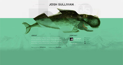 Josh Sullivan Website Screenshot