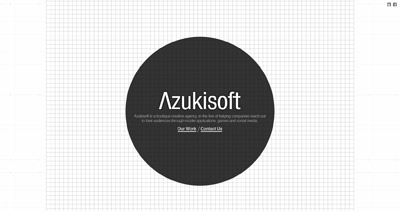 Azukisoft Website Screenshot