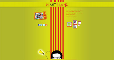 Nimit Shah Website Screenshot