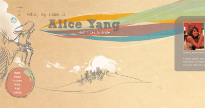 Alice Yang Website Screenshot