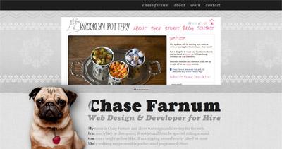 Chase Farnum Website Screenshot