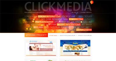 Click Media Website Screenshot