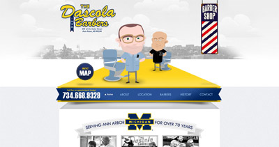 The Dascola Barbers Website Screenshot