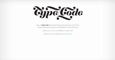 Type/Code Website Screenshot