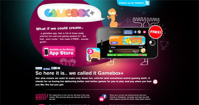 Gamebox Website Screenshot