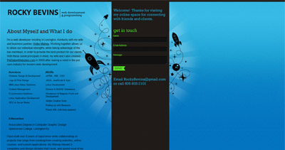 Rocky Bevins Website Screenshot