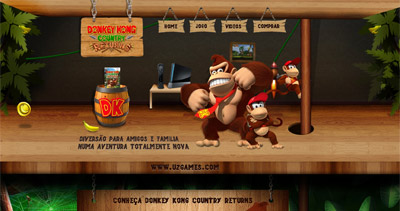 Donkey Kong Country Returns Website Screenshot