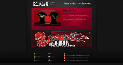 Factor D Studio Website Screenshot