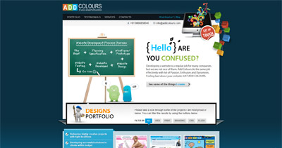 AddColours Website Screenshot
