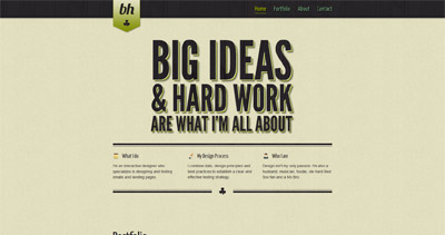 Brandon Houlihan Website Screenshot