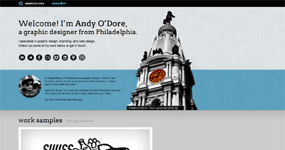 Andy O'Dore Website Screenshot
