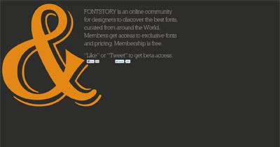 Fontstory Website Screenshot