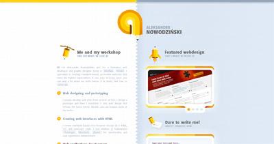 Aleksander Nowodziński Website Screenshot