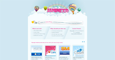 JanineXD Website Screenshot