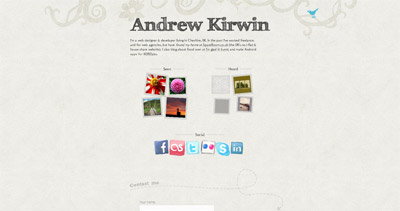 Andrew Kirwin Website Screenshot
