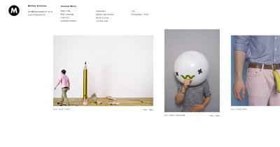 Matthew Nicholson Website Screenshot