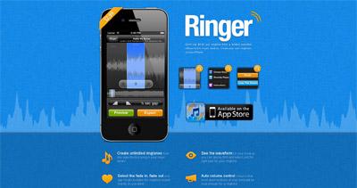 Ringer Website Screenshot