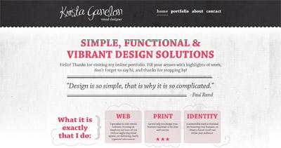Krista Ganelon Website Screenshot