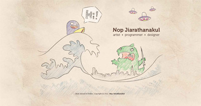 Nop Jiarathanakul Website Screenshot