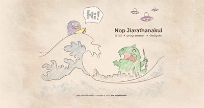 Nop Jiarathanakul Website Screenshot